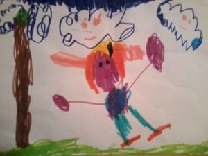 Disegno di Beatrice - 3 anni
