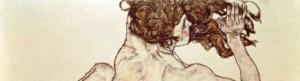 Particolare di Schiele - nudo di schiena