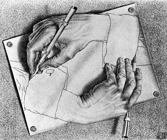 Escher - Mani che disegnano